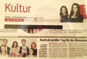 """Ballettschule in der """"Kurier"""" Zeitung"""