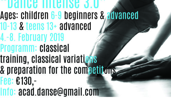 "Ballet Workshop ""DanceIntense 3.0"""